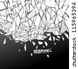 Design Template - eps10 Abstract Shattered Glass Background - stock