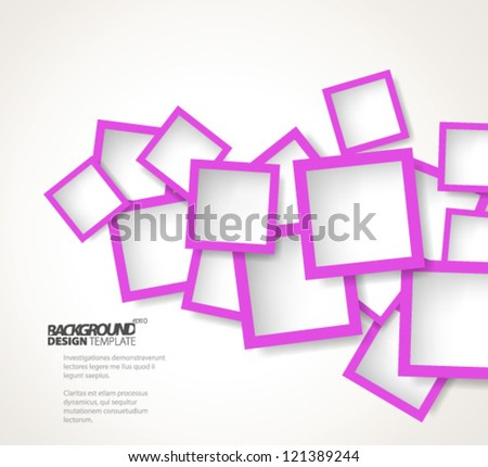 Design Template - eps10 Abstract Squares Background - stock vector