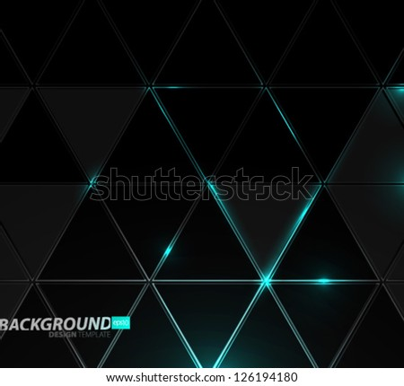 Design Template - eps10 Abstract Triangles Background - stock vector