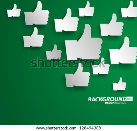 Design Template - eps10 Floating Thumbs Up Background - stock vector