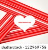 Design Template - eps10 Heart for Valentines Day Background - stock vector