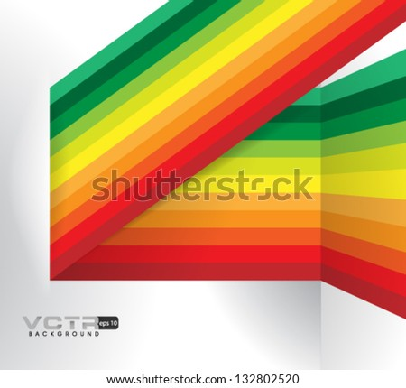 Design Template - eps10 Multicolor Lines Modern Design Background