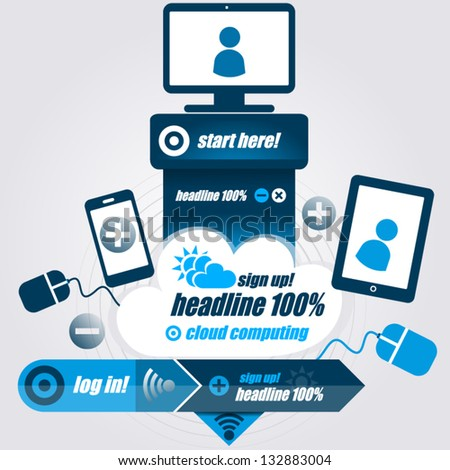 Design Template for Infographics and Web - stock vector