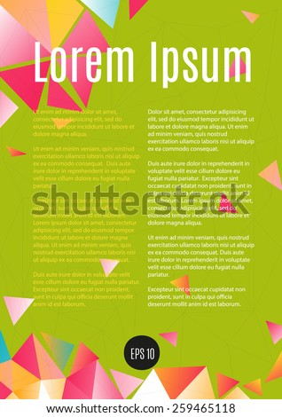 Design template layout page A4 for business.