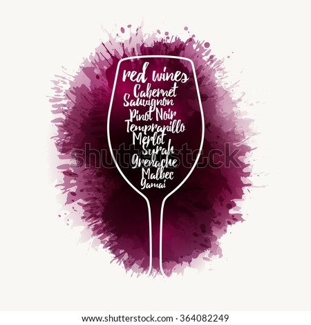 Design Template List Wine Tasting Invitation Stock Photo Photo