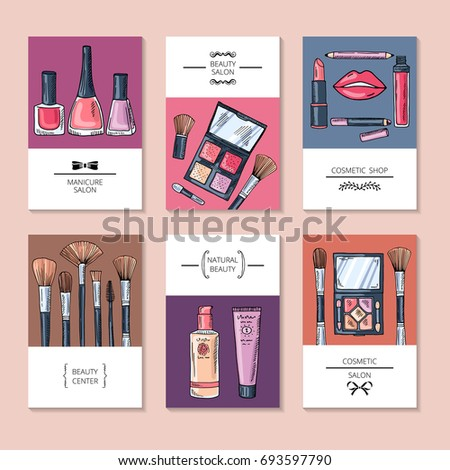 Design template different business cards banners stock vector 2018 design template of different business cards or banners for beauty salon manicure salon and beauty colourmoves