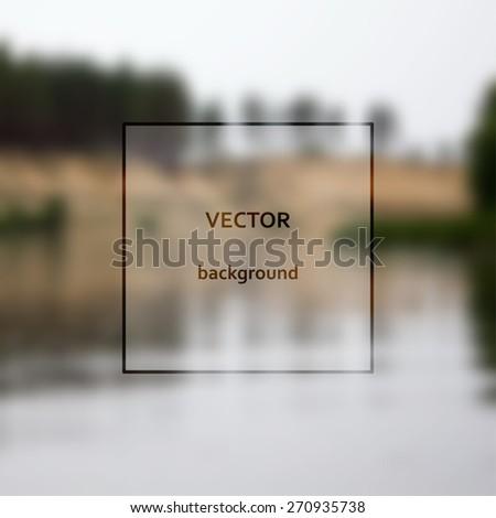 Design template on blurred background. Vector illustration. - stock vector