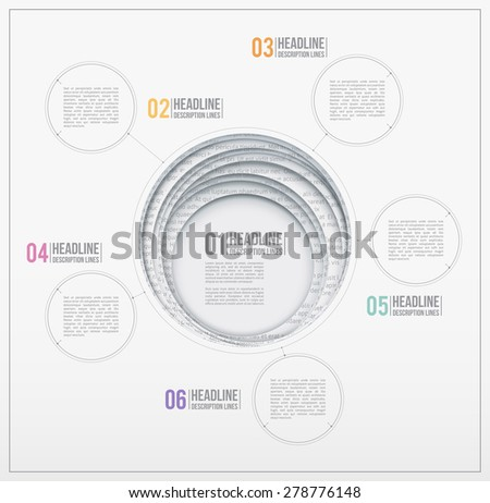 Design template. Paper hole. Circle cutouts. - stock vector