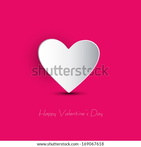 Design Template -  Valentines Day Background - stock vector