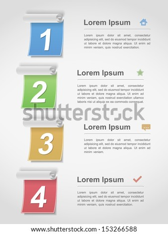 Design template with four elements, vector eps10 illustration