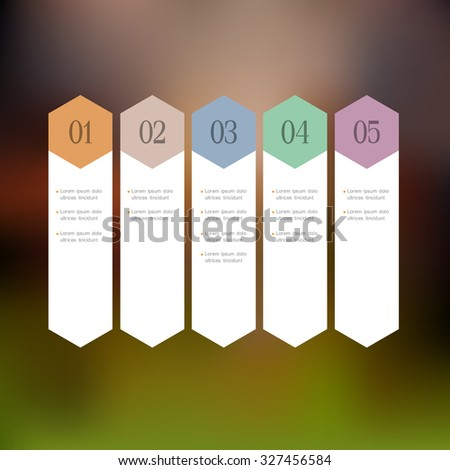 Design template with stylized arrows. Vector website layout, banners for infographics - stock vector
