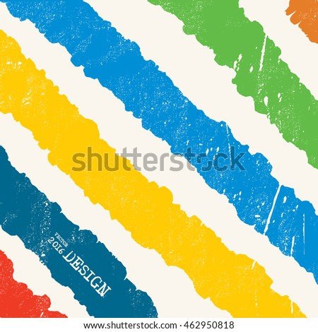Design templates. Artwork with Color Strip Background. Abstract Modern Decoration. Painting. Wallpaper with empty space for your text. Grunge Line design. Vector illustration.