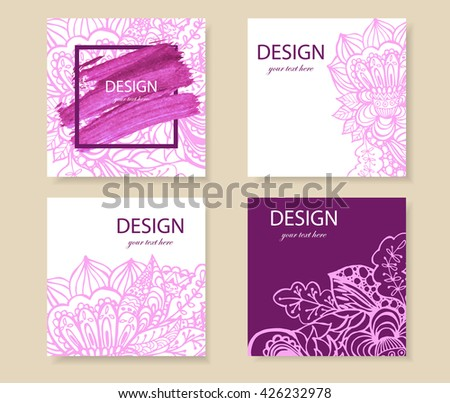 Creative Modern Business Cards Invitations Set Vector – Business Cards Invitations
