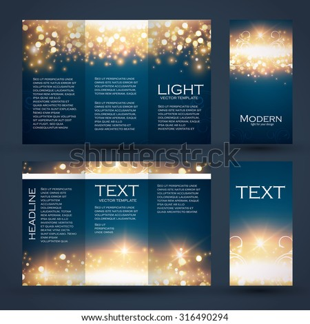 Design templates collection for banners, flyers, placards and posters. Bokeh light design. Shining banners set.  Vector illustration - stock vector