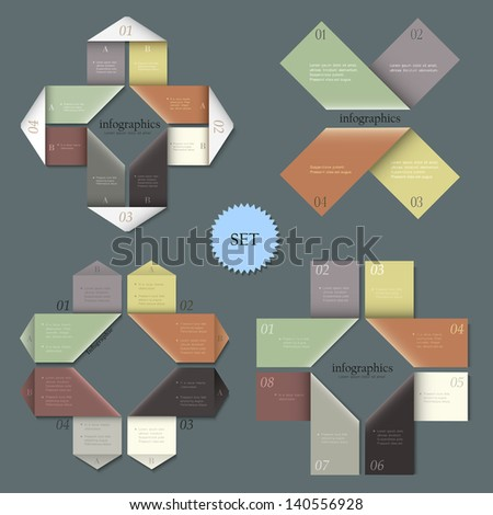 Design templates for infographics. Vector set 1 - stock vector