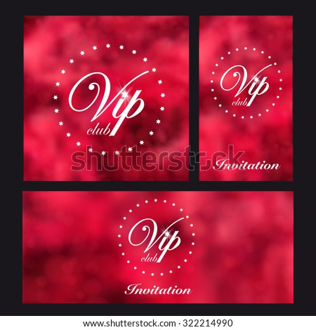 Design templates for VIP event. Background roses. For event or party. Vector.