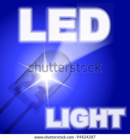Design with blue led. - stock vector