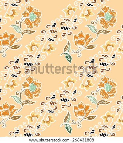 Design with flowers and art background. - stock vector