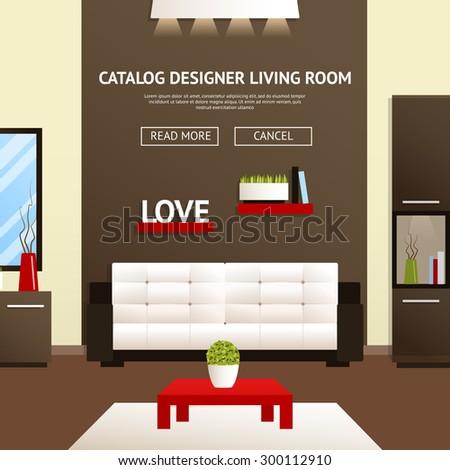 Christmas Office Illustration Flat Style Open Stock Vector