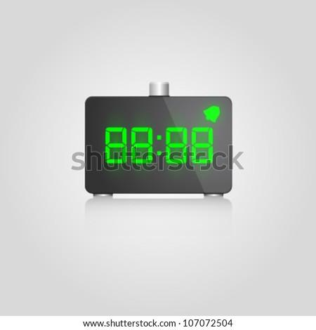 Designer digital lcd alarm - stock vector