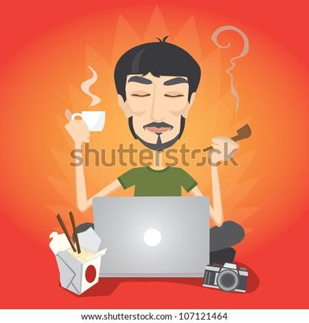designer vector illustration - stock vector