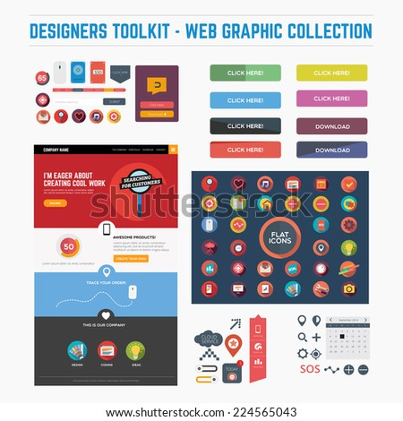 Designers toolkit - web graphic collection