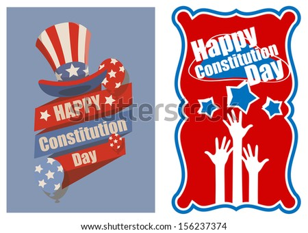 Designs and banner for USA - Constitution Day Vector Illustration