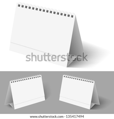 Desk calendar. Illustration on white for design - stock vector