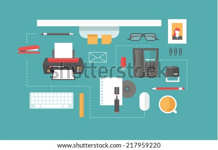 desk header - stock vector