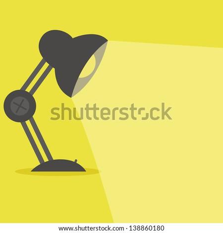 desk lamp - stock vector