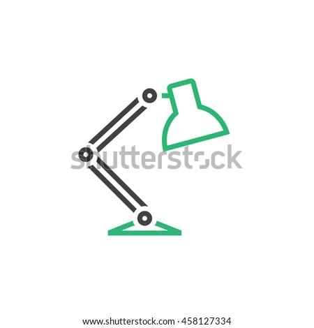 Desk Lamp Line Icon Outline Vector Vector 457169821 – Desk Lamp Logo