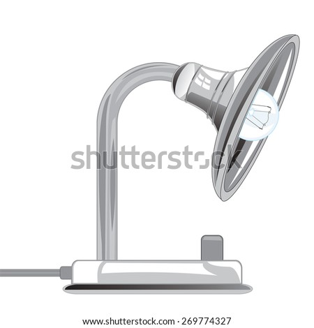 Desk lamp on white background is insulated
