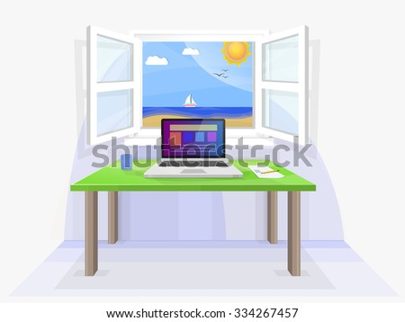 Office Window View Stock Images Royalty Free Images