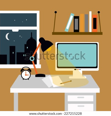 Study table stock photos images pictures shutterstock Study table facing window