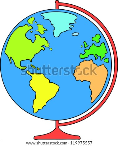 Cartoon globe stock images royalty free images vectors desk world globe for education vector illustration sciox Images