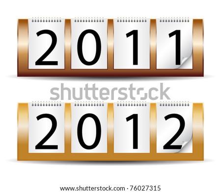 Desk year calendar-vector - stock vector