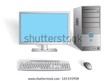 Desktop Computer - stock vector