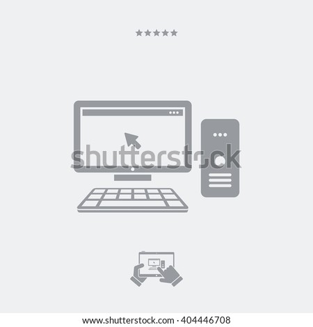 Desktop pc icon, Desktop pc vector, Desktop pc symbol, Desktop pc design, Desktop pc illustration, Desktop pc JPG. - PART OF A SET, visit my portfolio. - stock vector