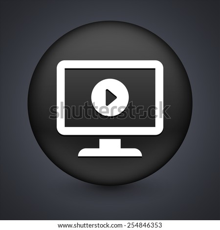 Desktop with Media Player on Black Round Button