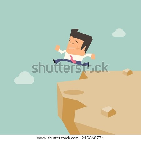 Desperate from business. Flat vector illustration - stock vector
