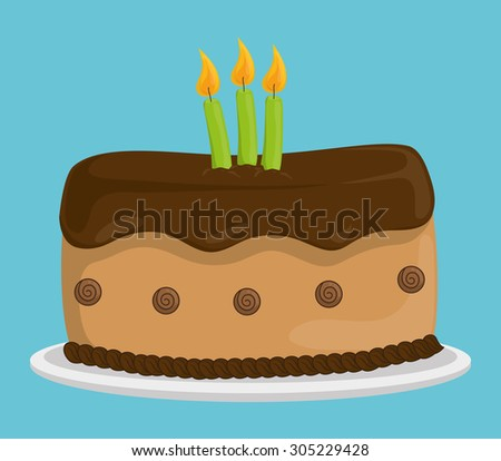 Dessert cake design, vector illustration eps 10.