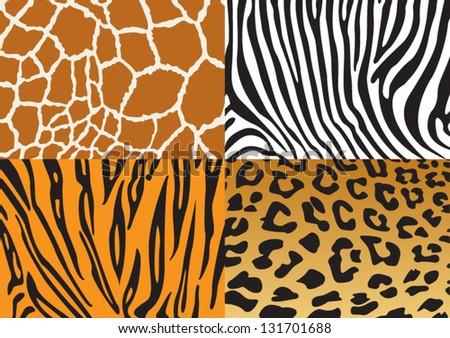 Destruction of the beautiful wildlife mammals - stock vector