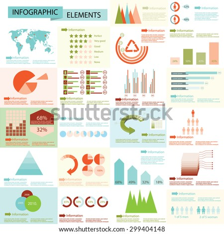 Detail info graphic vector illustration. World Map and Information Graphics - stock vector