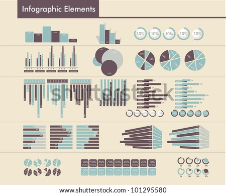 Detail infographic vector - stock vector