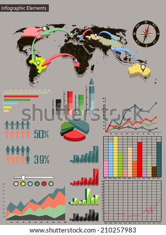 Detail infographic vector illustration world map stock photo photo detail infographic vector illustration world map and information graphics easy to edit states gumiabroncs Images