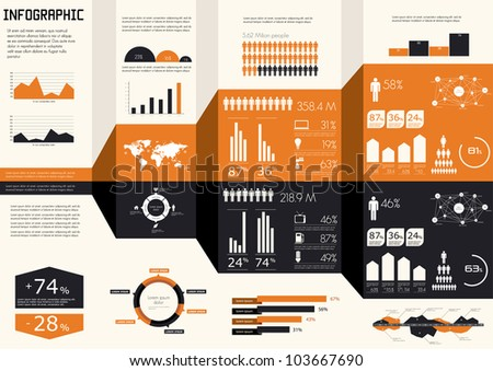 Detail infographics set. World Map and Information Graphics - stock vector