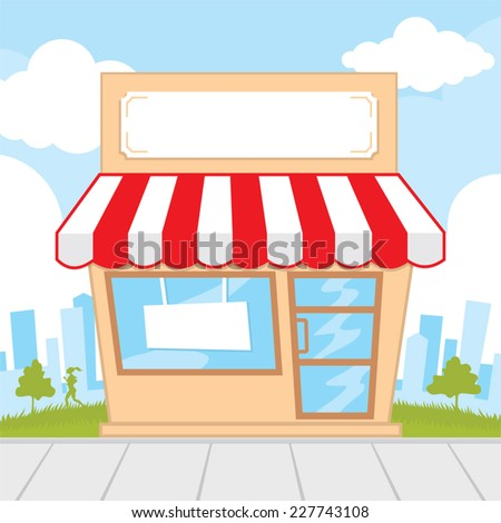 Detail of a store front  - stock vector