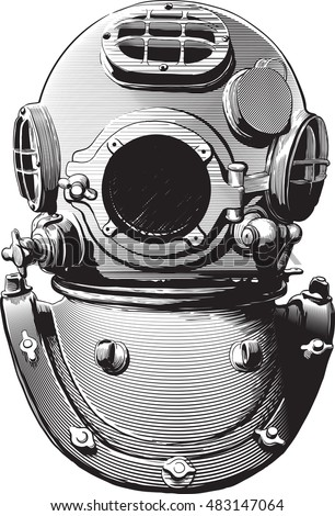 Old Fashioned Diving Suit Clipart