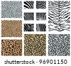 Detailed animal skin, vector - stock vector