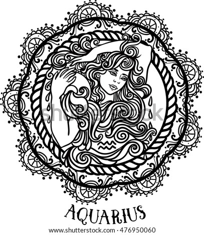 Aquarius Tattoo Zodiac Stock Images Royalty Free Images